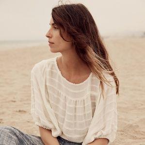 NWT Christy Dawn Ivory Stripe Aya Knit Crop Top
